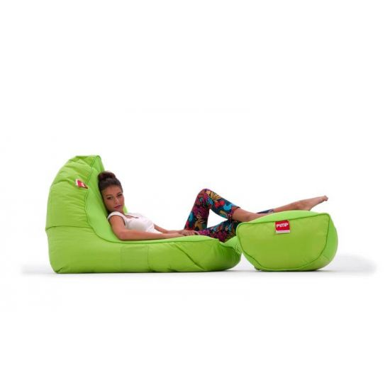 Набор из бескаркасного кресла и пуфа PiMP® V.I.P - Coolio Lime
