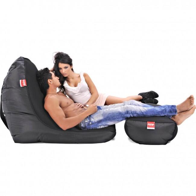 Набор из бескаркасного кресла и пуфа PiMP® V.I.P - Gangsta Black