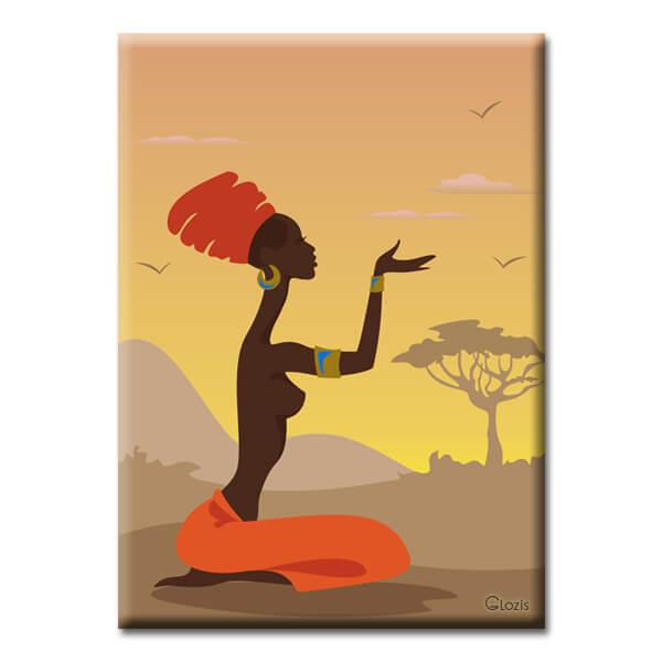Картина African girl Glozis D-038 50х...