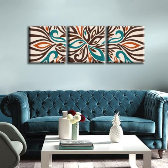 Модульная Картина Glozis Abstraction D-048 50х50 см х 3 Картины