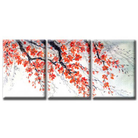 Модульная Картина Glozis Sakura D-052 50х35 см х 3 Картины