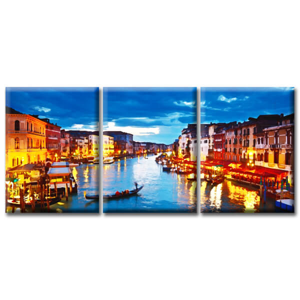 Модульная Картина Glozis Grand Canal D-053 70х50 см х 3 Картины