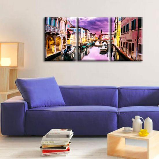 Модульная Картина Glozis Purple Dream D-054 50х35 см х 3 Картины
