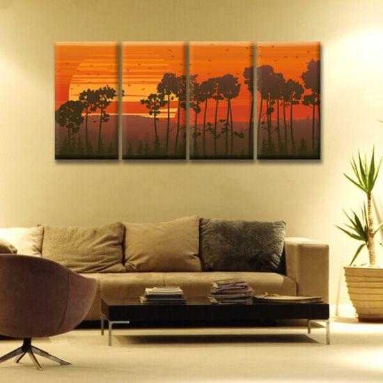 Модульная Картина Glozis Sunset D-055 70х35 см х 4 Картины