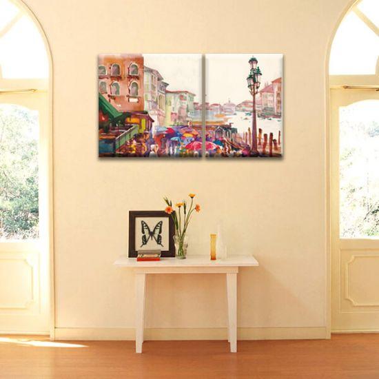 Модульная Картина Glozis Rain D-056 50х35 см + 50х50 см