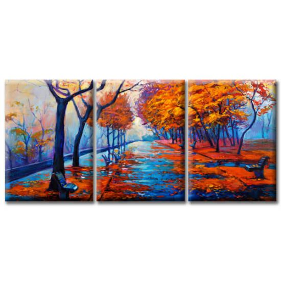 Модульная Картина Glozis Autumn Park D-058 50х35 см х 3 Картины