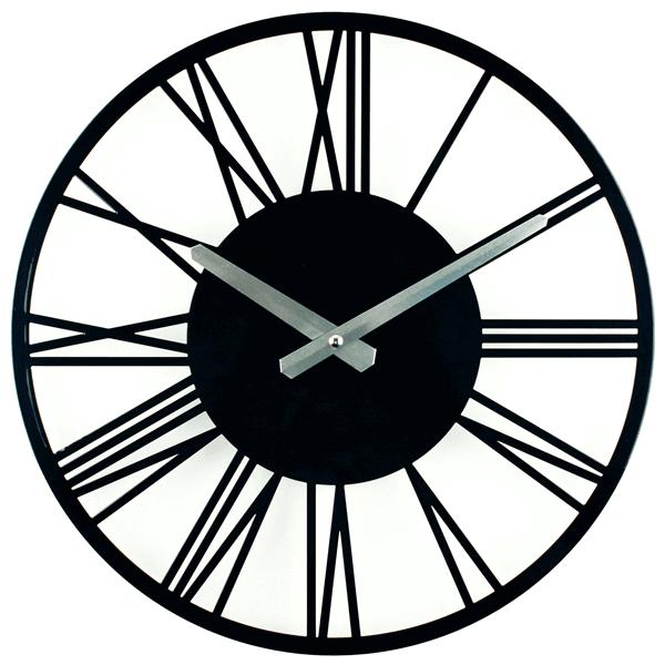 Настінний годинник Glozis Rome Black B-022 35х35