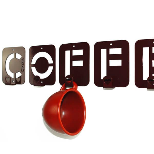 Вішалка настінна Glozis Coffee H-004 50х10 см