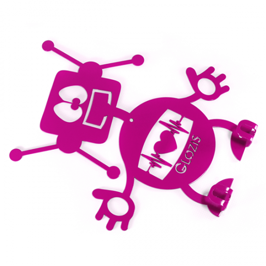 Вешалка настенная Детская Glozis Robot H-007 26х22см