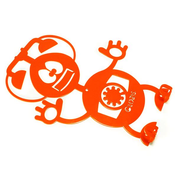 Вішалка настінна Дитяча Glozis Robot Phone H-008 26х22см