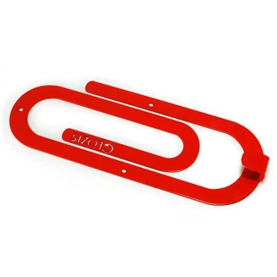 Вешалка настенная Крючок Glozis Clip Red H-012 26х10см
