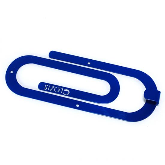 Вешалка настенная Крючок Glozis Clip Blue H-013 26х10см