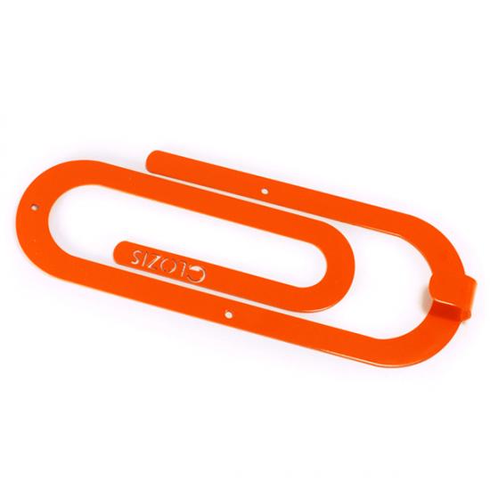 Вешалка настенная Крючок Glozis Clip Orange H-014 26х10см