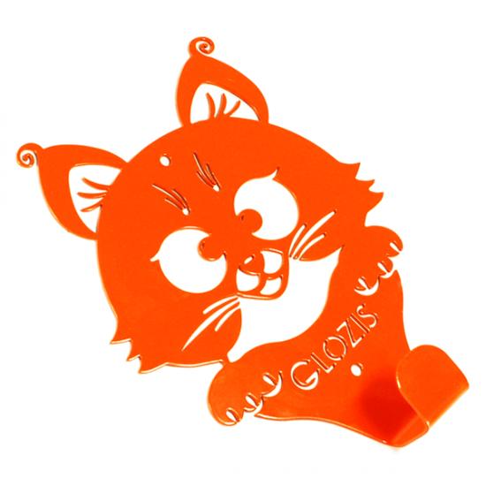 Вешалка настенная Детская Glozis Kitty Orange H-016 16х13см