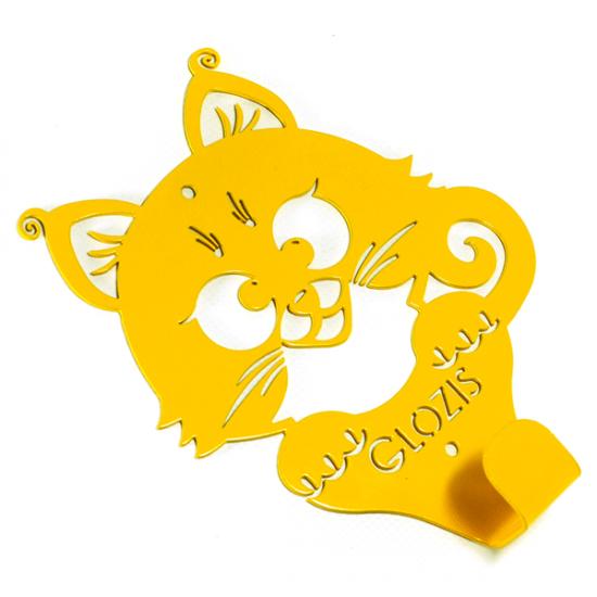 Вешалка настенная Детская Glozis Kitty Yellow H-017 17х13см