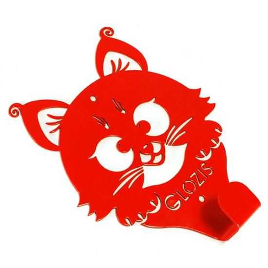Вешалка настенная Детская Glozis Kitty Red H-018 17х13см