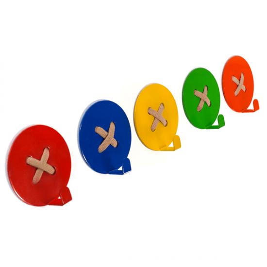 Вешалка настенная Крючок Glozis Button Yellow H-023 8х8см