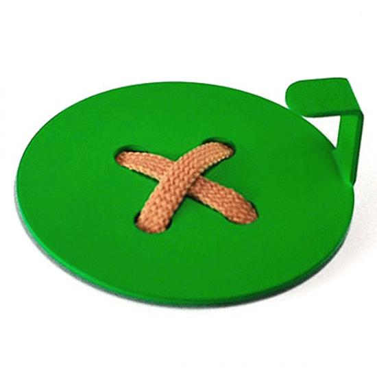 Вешалка настенная Крючок Glozis Button Green H-026 8х8см