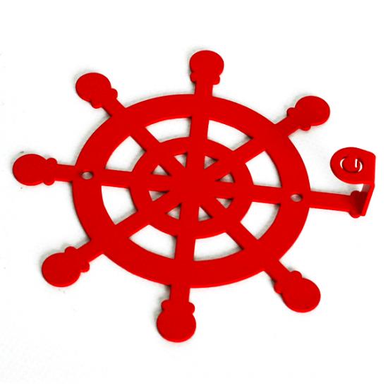 Вешалка настенная Крючок Glozis Wheel H-035 12х12см