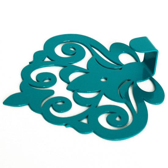 Вешалка настенная Крючок Glozis Ajur Turquoise H-062 11х10см