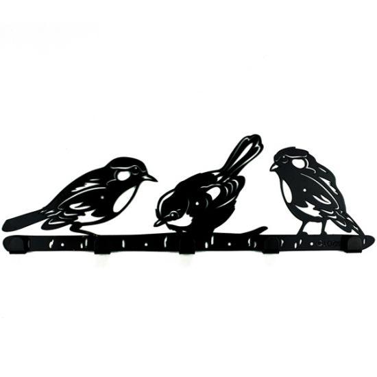 Вешалка настенная Glozis Birds H-066 50х16см