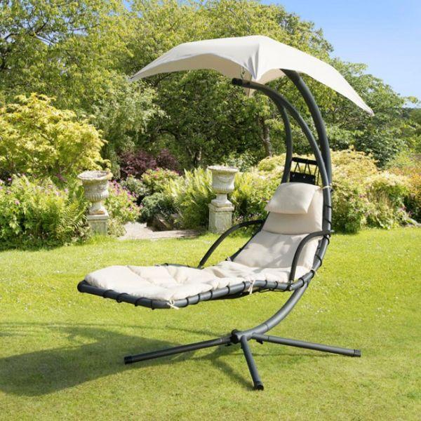 Кресло подвесное Dream с зонтиком (белый)