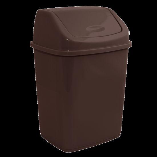 Ведро для мусора 5л с крышкой Темно-коричневый