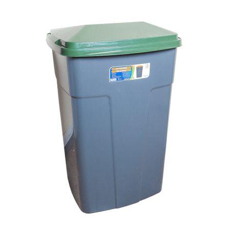 Бак мусорный 90л зелено-с�...
