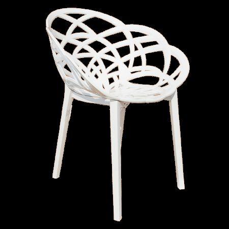 Кресло Papatya Flora белое сид�...