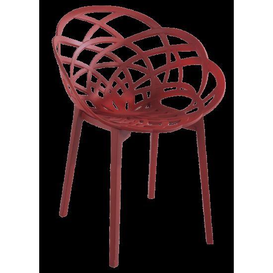 Кресло Papatya Flora матовый красный кирпич сиденье, ножки матовый кирпич
