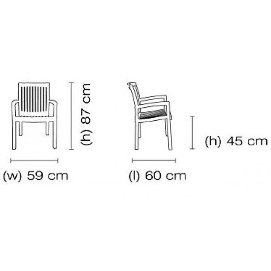 Кресло Papatya Нета белый