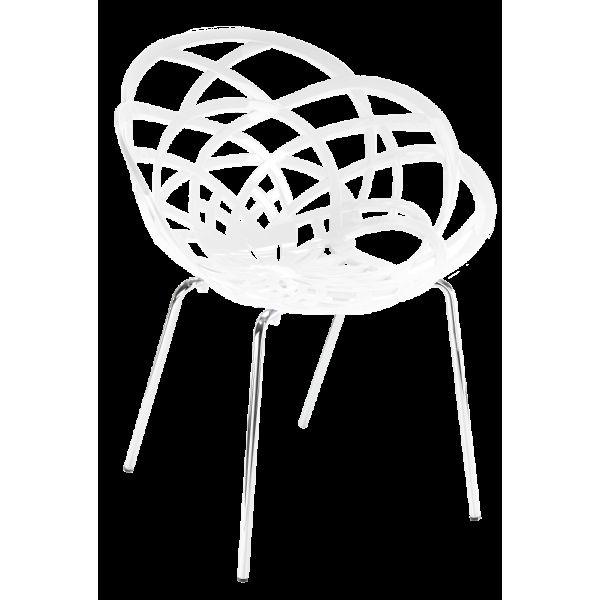 Кресло Papatya Flora-ML белое си...