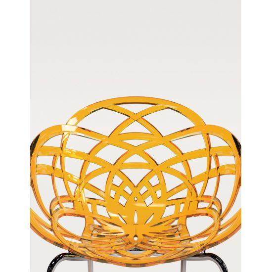 Кресло Papatya Flora-ML матовое белое сиденье, ножки хром