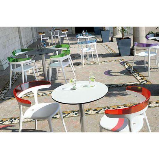 Кресло Papatya Luna антрацит сиденье, верх прозрачно-чистый