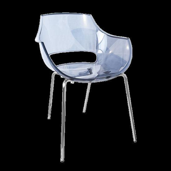 Кресло Papatya Opal прозрачно-серое