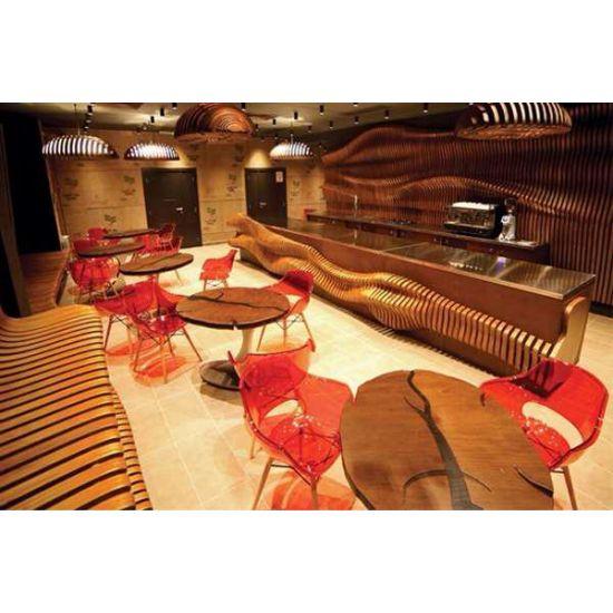 Кресло Papatya Opal-Wox матовый красный кирпич, рама натуральный бук