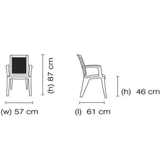 Кресло Papatya Сапфир зеленый