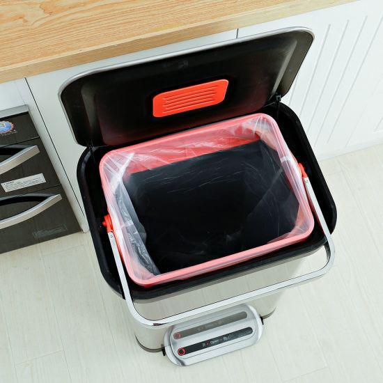 Ведро для мусора с педалью JAH 30 л черный металлик