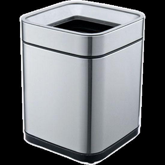 Ведро для мусора JAH 8 л металлик без крышки с внутренним ведром