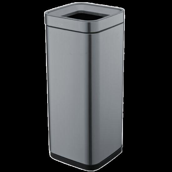 Ведро для мусора JAH 30 л черный металлик без крышки и внутреннего ведра
