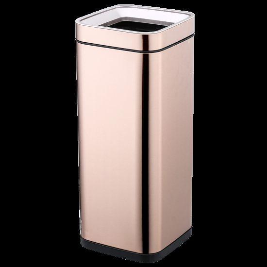 Ведро для мусора JAH 30 л золото без крышки и внутреннего ведра