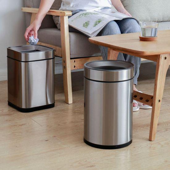 Ведро для мусора JAH 25 л круглое металлик без крышки и внутреннего ведра