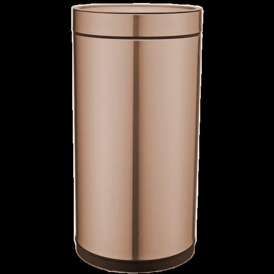 Ведро для мусора JAH 25 л круглое золото без крышки и внутреннего ведра