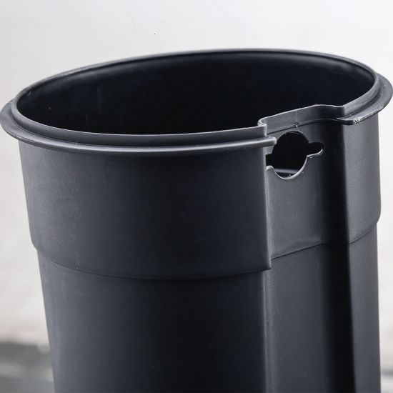Ведро для мусора с педалью Nordic Style JAH 5 л квадратное металлик с внутренним ведром