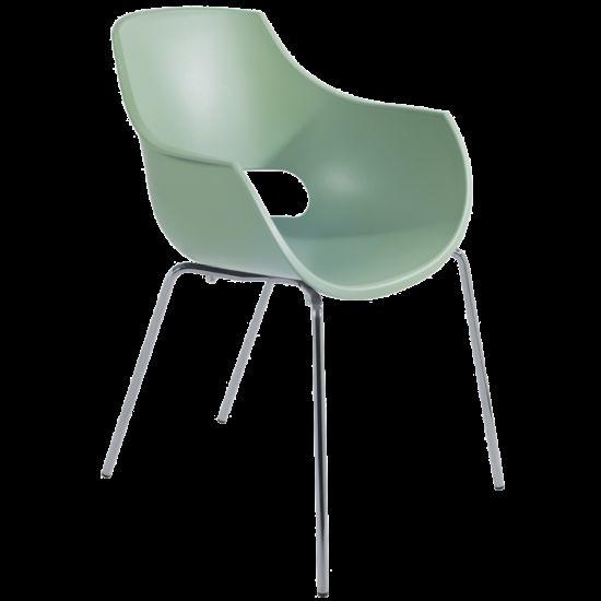 Кресло Papatya Opal-ML PRO зеленый резеда, ножки хром