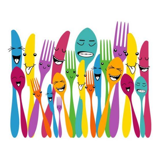 Виниловая Наклейка Glozis Spoon and Forks