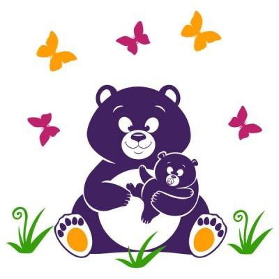 Вінілова Наклейка Glozis Bear