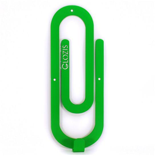 Вешалка настенная Крючок Glozis Clip Green H-011 26х10см