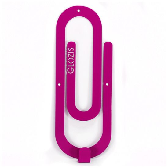 Вешалка настенная Крючок Glozis Clip Purple H-015 26х10см
