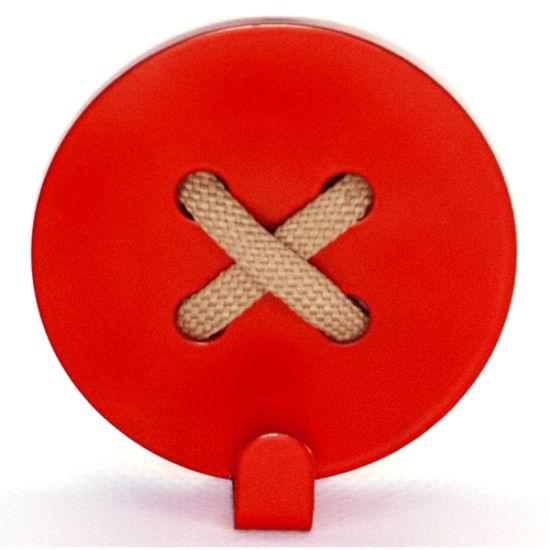 Вешалка настенная Крючок Glozis Button Red H-024 8х8см